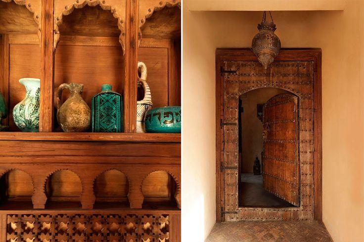 Gerani country home in Chania/Crete. Moroccan doors