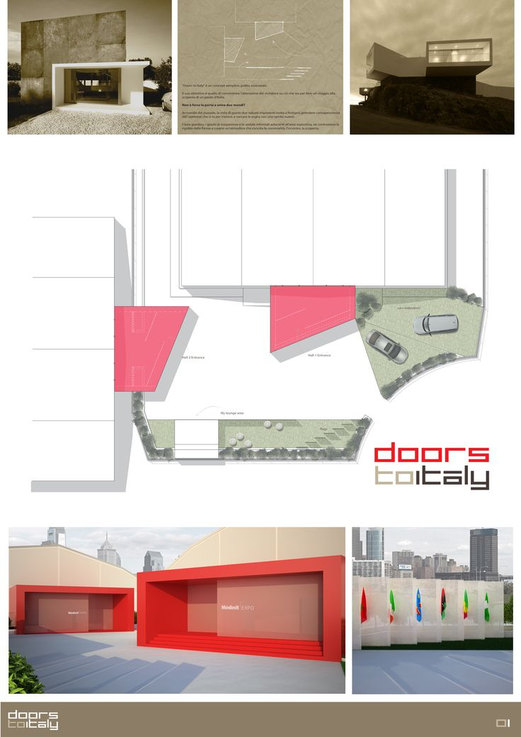 'Doors to Italy', my outdoor design concept for Mèdinit Expo, Casablanca.