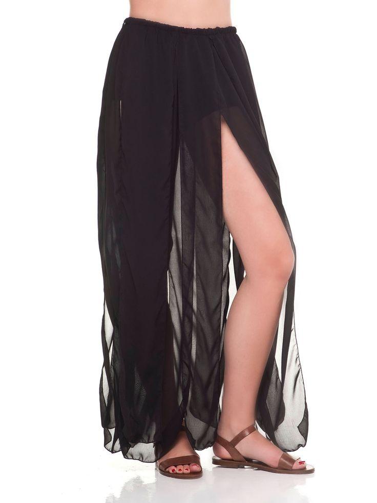 Black long skirt by Vassilis Thom
