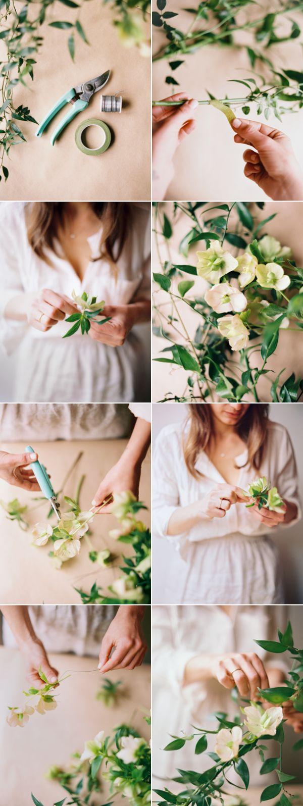 DIY Spring Wedding Garland via oncewed.com
