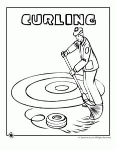 curling coloring page 231x300 Olympic Coloring Pages