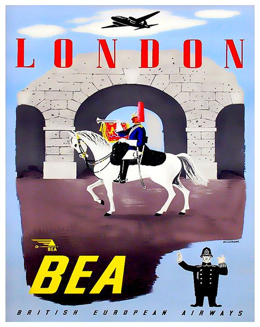 Art London England Poster Vintage Travel Print by Blivingstons