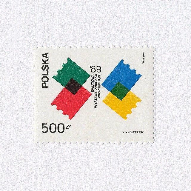 World Stamp Exposition (500 zł). Poland, 1989. Design: Waldemar Andrzejewski. #mnh #graphilately