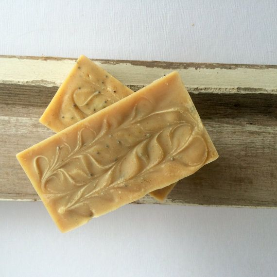 Scrub Soap. Lemongrass & Poppy Seed. Handmade by PureHavenNaturals