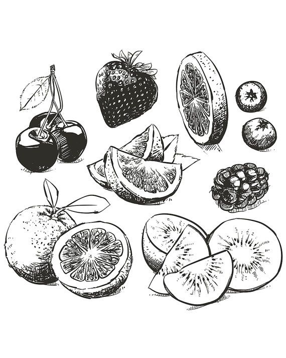 25 beautiful Fruit sketch ideas on Pinterest  Fruits drawing