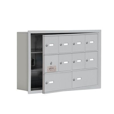 "Salsbury Industries 3 Tier 4 Wide EmpLoyee Locker Size: 18.75"" H x 29.25"" W x 5.75"" D, Color: Bronze"