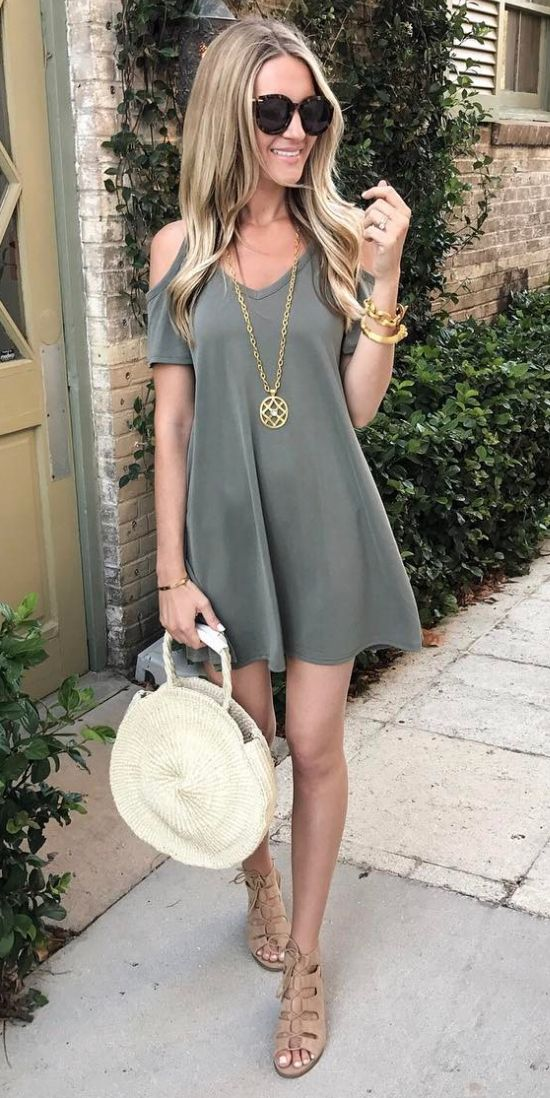 cold shoulder dress under $30