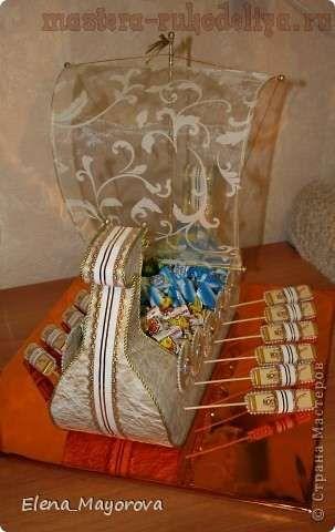 Корабль викингов. Мастер-класс - Поделки из конфет - Поделки из конфет - Каталог статей - Рукодел.TV