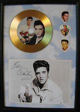 Elvis Presley Gold Look CD, Autograph & Plectrum Display - Best Price on eBay