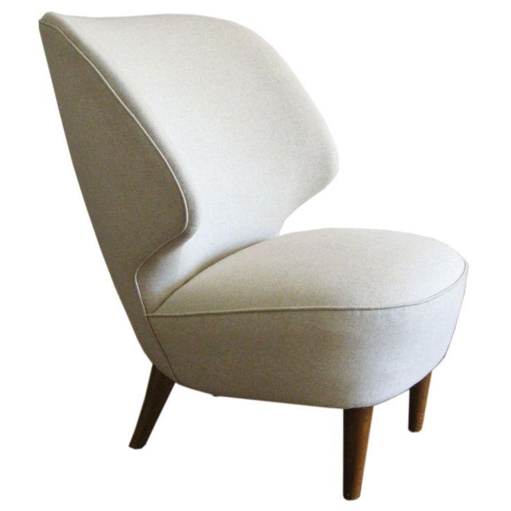 art deco modern furniture. Large Beautiful Swedish Art Deco Slipper Wingchair 1940u0027s Modern Furniture