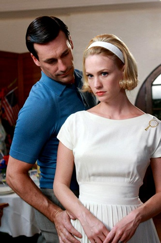 Don and Betty go to the country club! I love Betty's vintage tennis dress.