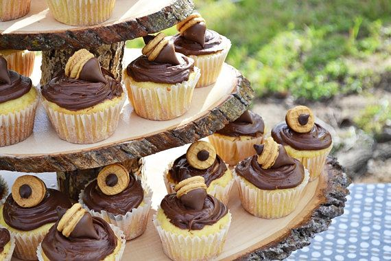 Wooden Cupcake Stand - Tiered Rustic Cup Cake Stand on Etsy, $92.00