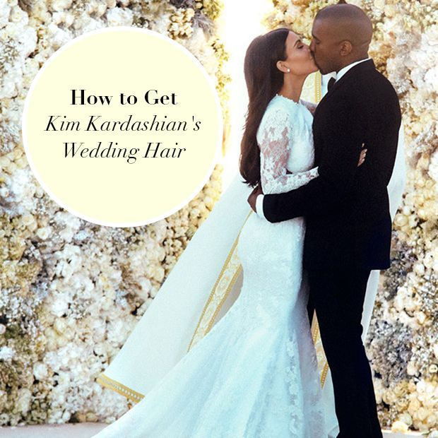 how to get Kim Kardashian's wedding hair