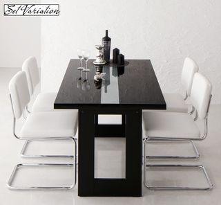 イタリアンモダンデザインダイニングセット【Vermut】ヴェルムト/ブラック鏡面テーブル激安セールアウトレット価格人気ランキング