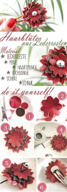 Haarblüte aus Lederresten