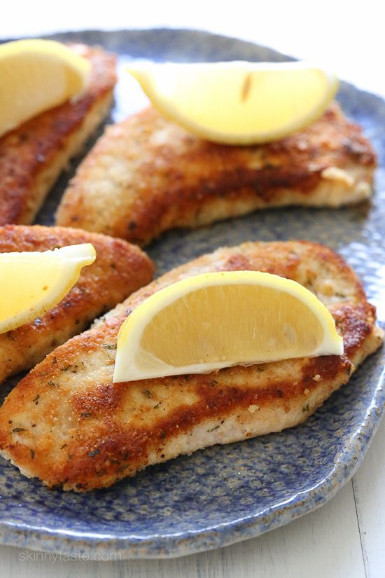Here's a quick, weeknight dish the whole family will love! Turkey cutlets with a wonderful Parmesan crust lightly pan-fried in just enough oil and butter to make it yummy, without making it greasy and