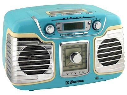 emerson ret66tqc retro style radio cd player retro style style and retro. Black Bedroom Furniture Sets. Home Design Ideas
