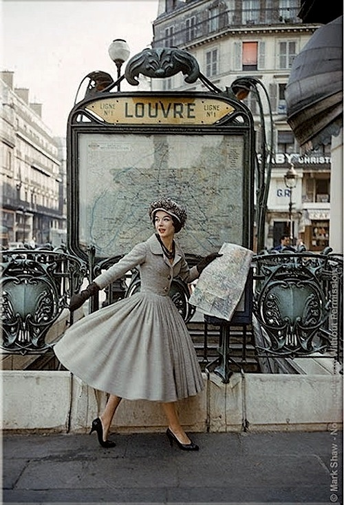 Paris in the 50s [Let me guess...Dior?]
