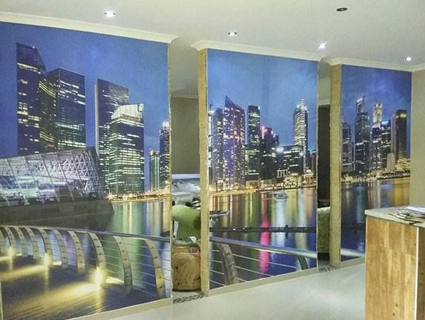 Digital wallpaper can be applied to a number of surfaces, providing a quick and efficient way of giving walls, doors and other traditionally uninspiring surfaces a new dimension