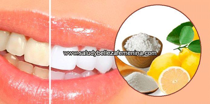 Dientes blancos con bicarbonato de sodio y limòn