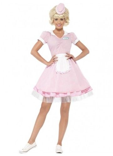 1950s Diner Girl Womens Costume. 1950s costumes, Rockabilly  fancy dress, America theme costumes from Costume Direct online store