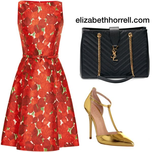 Liz by elizabethhorrell on Polyvore featuring Oscar de la Renta, Office and Yves Saint Laurent