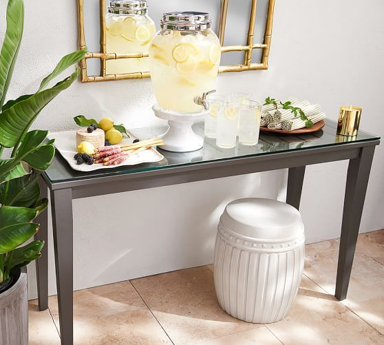 The Campbell Console Table From Pottery Barn Is So Pretty You May Want To  Use It Indoors! Perfect Table For Outdoor Buffets Or Drink Stations!
