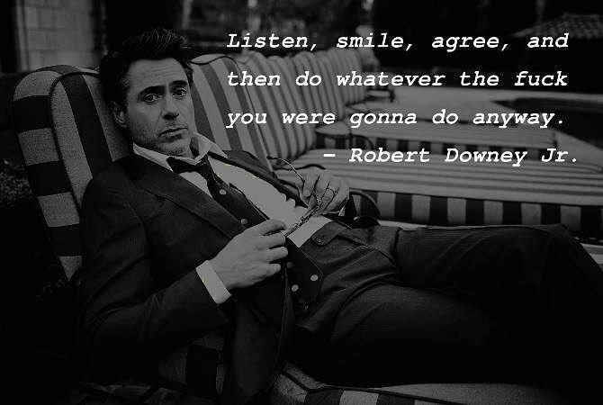 Gotta love RDJ. Classic. One of a kind. The comeback kid...#robertdowneyjr #hollywood #ironman #charliechaplin #shelfist #actor #moviestar #quoteoftheday #wordsthatmakesense