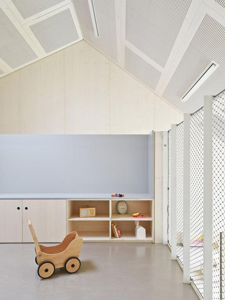 Separate roofs break down the scale of Von M's Kindergarten