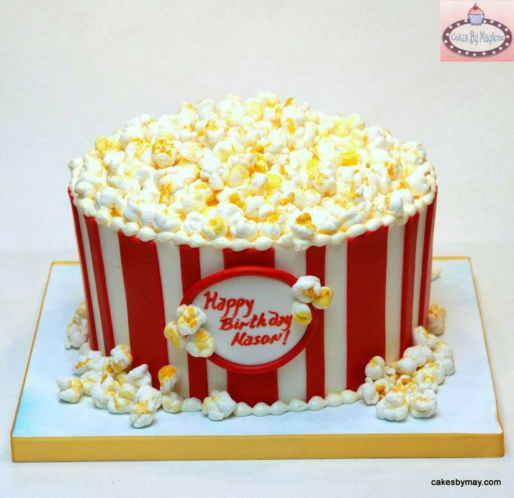 Popcorn Box Cake Tutorial