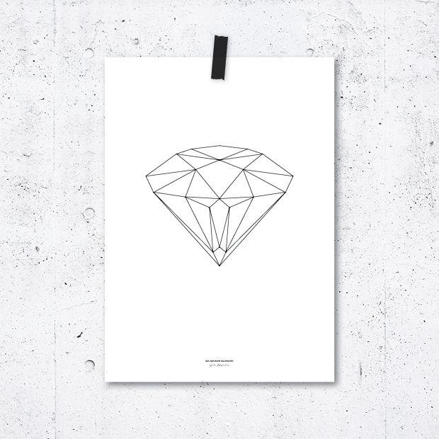 Plakát Geometry Diamond
