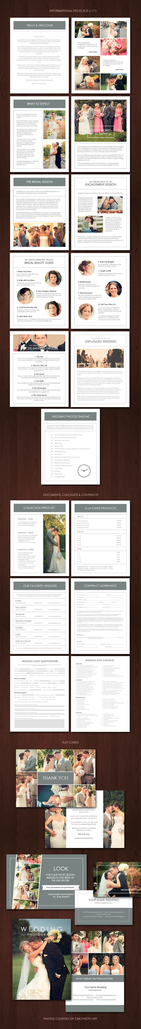The ultimate wedding photography #marketing kit. #brochure or #booklet design ideas.