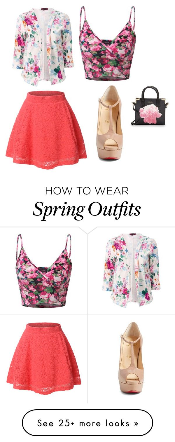 """Cute Easter/ Spring Outfit"" by lsantana13 on Polyvore featuring Doublju, LE3NO, Christian Louboutin and Calvin Klein"