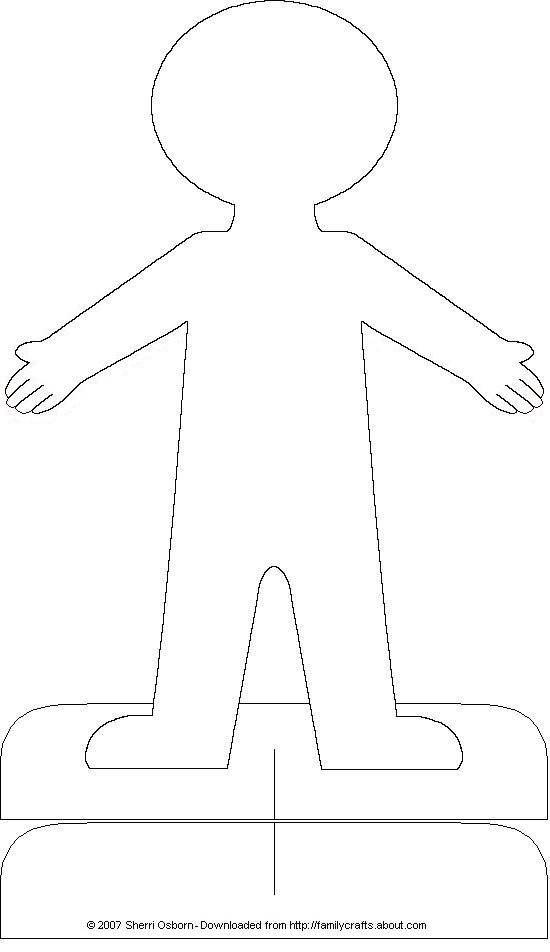 Paper Doll Template on parts of skirts