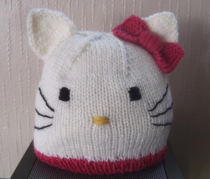 Smoochie: Oppskrift på Kitty luen min, Kan også brukes til Minnie Mus lue