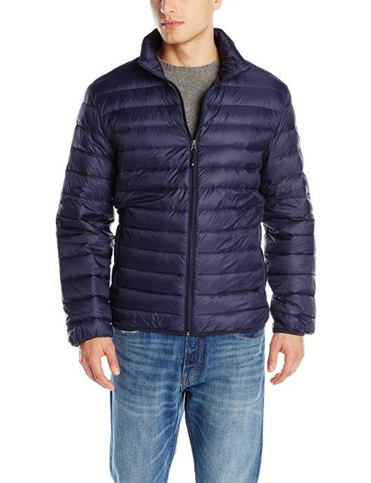 32Degrees Weatherproof Men's Packable Down Puffer Jacket, Navy, X-Large
