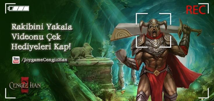 #video #oyun #mmorpg #savaş #barış #etkinlik #ch2 #joygame Türkiye'nin en iyi MMORPG oyunu Cengiz Han 2 yepyeni bir yarışma ile oyuncularının karşısına çıkıyor. Cengiz Han 2 dünyası içerisinde yapmış olduğunuz oKo(PvP)'nun bir videosunu çekerek ve yarışmaya katılarak birbirinden değerli hediyelere sahip olmak ister misiniz?   Detaylar; http://www.joygame.com/forum/Thread.aspx?t=227995