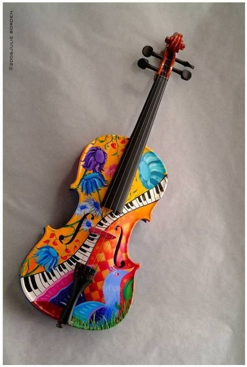Colorful Violin With Images Violin Art Violin