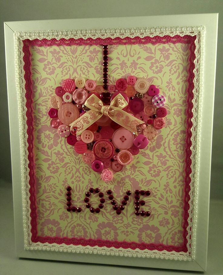 Heart button art. Made to order