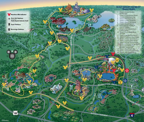 Image Result For Disney Marathon Course Map