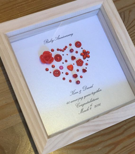 Wedding Parents Gifts: 40th Ruby Wedding Anniversary Gift By LoveTwilightSparkles