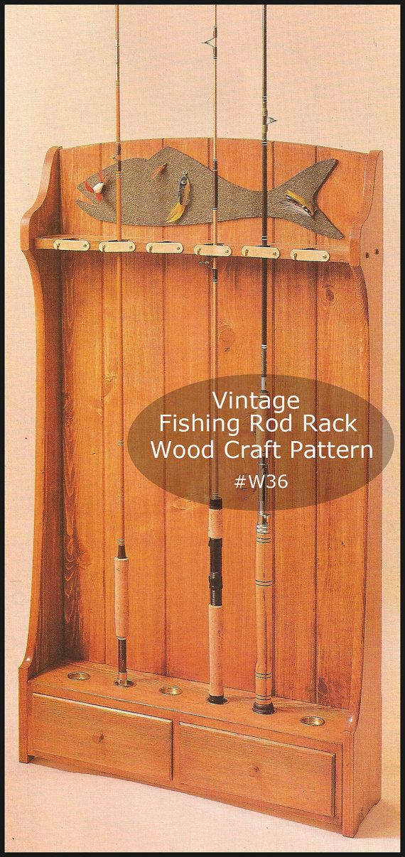 25 best ideas about fishing rod rack on pinterest rod for Wooden fishing pole