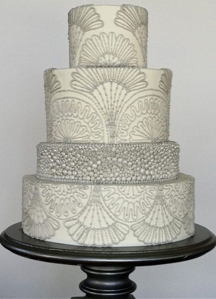 Wedding Cakes by Jim Smeal. This with white roses would be amazing!