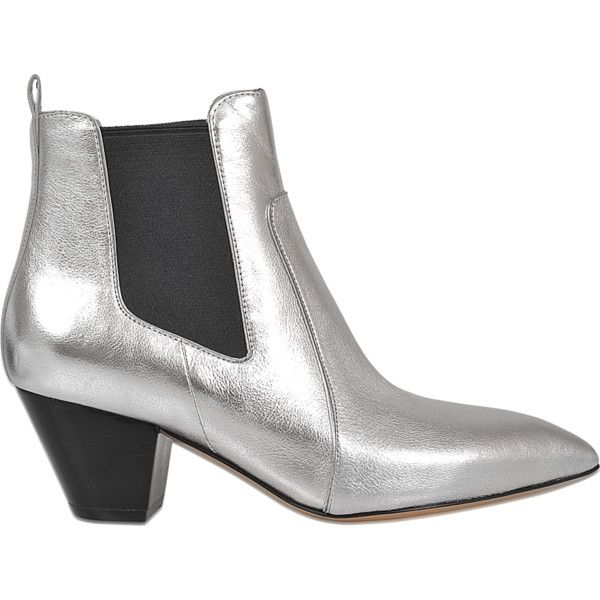 Marc Jacobs Dance Kim chelsea boot (9,190 MXN) ❤ liked on Polyvore featuring shoes, boots, ankle booties, silver, ankle boots, slip on boots, leather ankle booties, pull on boots and leather ankle boots