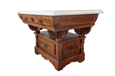 Jurkovič Samo Dušan (1868–1947)   Toaletní stolek Vesna   Aukce obrazů, starožitností   Aukční dům Sýpka