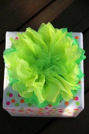 DIY Neon Confetti Gift Wrap from Studio DIY #giftwrap #neon #DIY