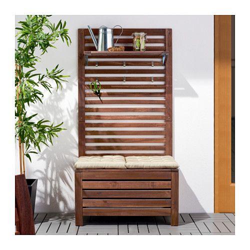 pplar banc av panneau tablette ext rieur teint brun balcons caillebotis et am nagement. Black Bedroom Furniture Sets. Home Design Ideas