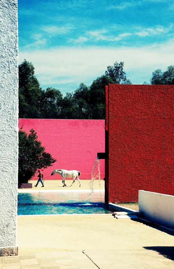 Color Theory Therapy| Serafini Amelia| Cuadra San Cristóbal. Mexico City, Mexico. 1968. Luis Barragan.