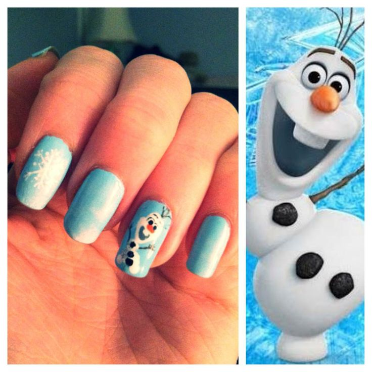 Olaf Nail Designs. Frozen Olaf Christmas nail designs for 2015 ...