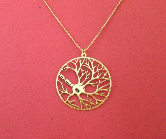 Gold Neuron Necklace | 23 Majestically Beautiful Pieces Of Science Jewelry